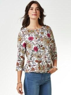 Blouson-Shirt Blumen-Paisley Fuchsia/Rose Detail 1