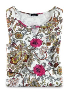 Blouson-Shirt Blumen-Paisley Fuchsia/Rose Detail 2