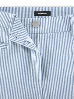 7/8 Seersucker Hose Blau/Weiß Detail 4