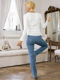 Yoga-Jeans Supersoft Mid Blue Detail 2