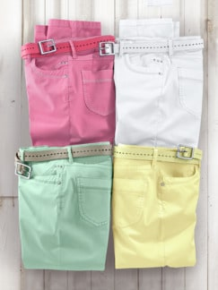 Pastell-Hose Five Pocket Melone Detail 2
