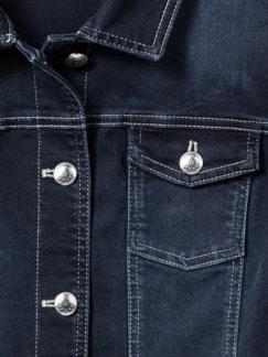 Powerstretch-Jeansjacke Blue Black Detail 4