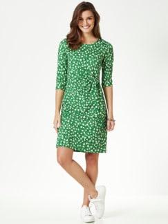 Jerseykleid Wickeloptik Grasgrün Detail 1