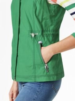 Leichtweste Handgepäck Grasgrün Detail 4