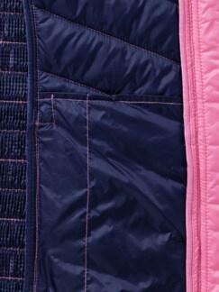 Leichtsteppweste Dehnzone Pink Detail 3