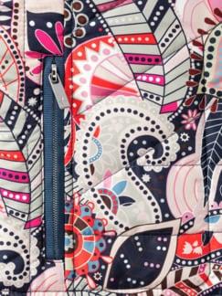 Wendeweste Paisley Meerblau/Multicolor Detail 4