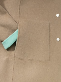 Double Face Wolljacke mint/beige Detail 3