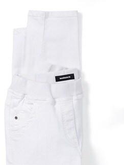 Schlupfhose Jerseybund Weiß Detail 4