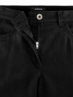 Extraglatt-Hose Mariposa Slim Fit Schwarz Detail 4