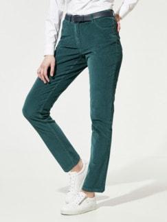 Five-Pocket-Cordhose Smaragdgrün Detail 1
