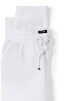 Leinenmix Jogpant Weiß Detail 4