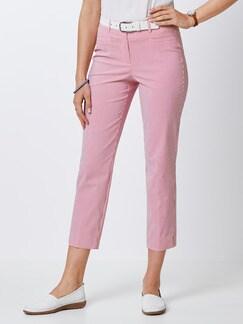 7/8 Seersucker Hose Pink/Weiß Detail 1
