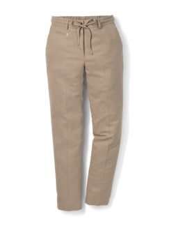 Flanellhose Country life Caramel Detail 2