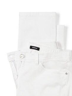 Five-Pocket-Hose Flechtgürtel Weiß Detail 4