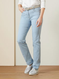 Yoga-Jeans Supersoft Blue Bleached Detail 1