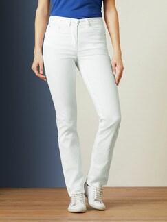 Passform-Jeans Slim Fit Weiß Detail 1