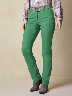 Yoga-Jeans Supersoft Grasgrün Detail 1