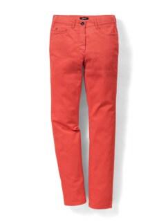 Yoga-Jeans Ultraplus Karminrot Detail 2