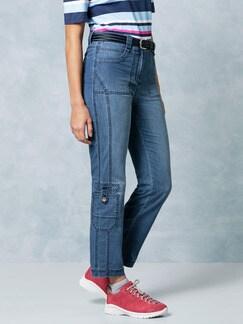Klepper Coolmax 7/8 Cargo Jeans Blue Stoned Detail 1