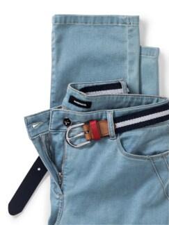 Gürtel- Jeans Blue Bleached Detail 4