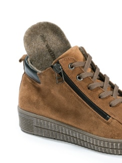 City Sneaker High Top Braun Detail 3