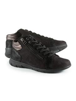Comfort Kuschel-Sneaker Schwarz Detail 1