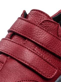 Hirschleder-Doppelklett-Schuh Rot Detail 4
