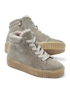 Lammfell High Top Taupe Detail 1
