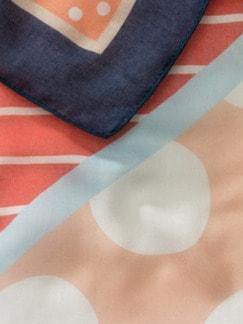 Supersoft-Schal-Mustermix Marine/Melone Detail 3
