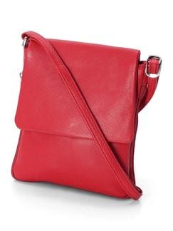 Ledertasche super soft Rot Detail 1