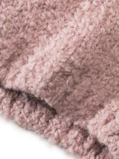 Boucle-Strickmütze Cashmere Rosa Detail 3