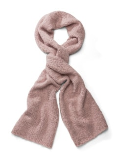 Boucle-Strickschal Cashmere Rosa Detail 1