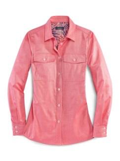Pima-Cotton-Hemdbluse-Oxford Rot Detail 3