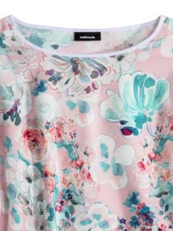Viskose Shirtbluse Sommerleicht Geblümt Rose Detail 4