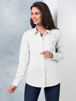 Extraglatt-Bluse Modern Classic Weiß Detail 1