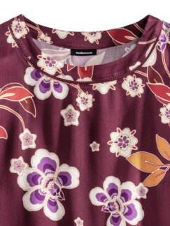 Viskose-Shirtbluse Herbstblüten Barolo Detail 3