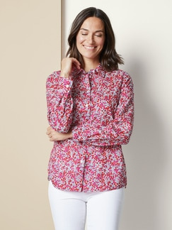 Liberty Bluse Wiltshire Pinkrot Detail 1