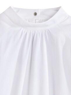 Ultrastretch-Stehkragen-Shirtbluse Weiß Detail 4