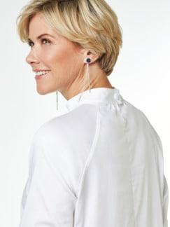 Ultrastretch-Stehkragen-Shirtbluse Weiß Detail 3