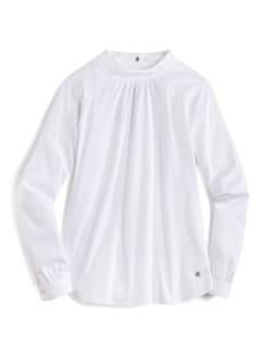 Ultrastretch-Stehkragen-Shirtbluse Weiß Detail 2