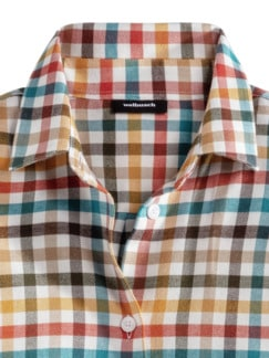 Flanellbluse Supersoft Karo Multicolor Detail 3