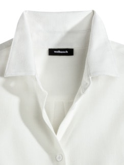 Flanellbluse Supersoft Offwhite Detail 3