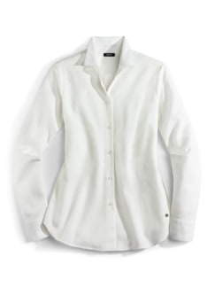 Flanellbluse Supersoft Offwhite Detail 2