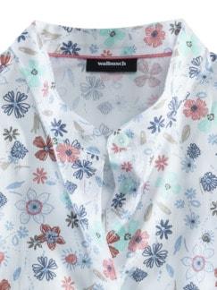 Pima-Cotton-Hemdbluse Millefleurs bla Detail 3