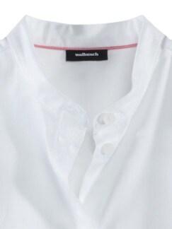 Pima-Cotton-Hemdbluse weiß Detail 3