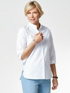 Pima-Cotton-Hemdbluse weiß Detail 1