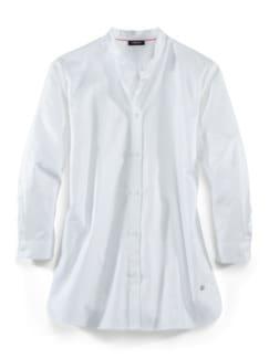 Pima-Cotton-Hemdbluse weiß Detail 2