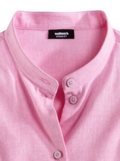 Stretchflanell-Stehkragen-Bluse Rose Melange Detail 3