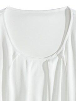 Viskose-Shirtbluse Weiß Detail 3