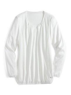 Viskose-Shirtbluse Weiß Detail 2
